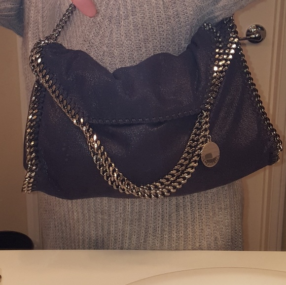 Stella McCartney Falabella Bag - Navy Blue. M 5bb43fdcf63eeae671d4c3f6 6098b16837e84
